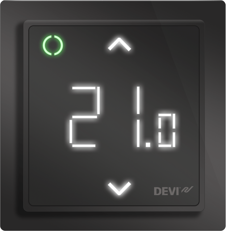 DEVIREG SMART PURE BLACK TERMOSTAT