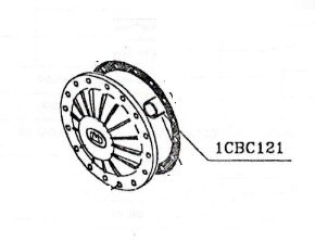 DRSNI LEŽAJ K3-POKROV 1CBC121(K400CC-K740CC)