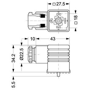 UTIČNICA ZA ŠPULE MAG.V. PG 11 IP65(018F;018Z;042Z